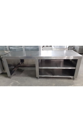 Inox Counter 1,55m with space for LPG bottle - COD:0219-1470