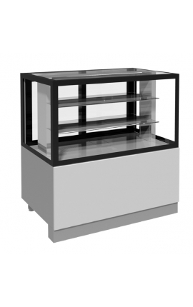 Refrigerated Pastry Display Inox with Straight Glasses BFK108