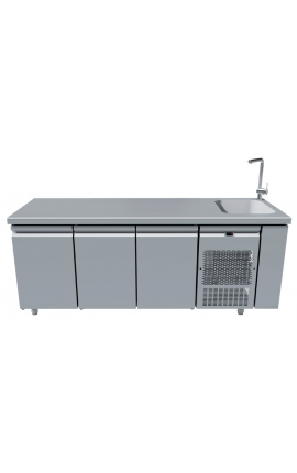 Fridge Counter Inox GN with Sink 40x40 PG205-40L
