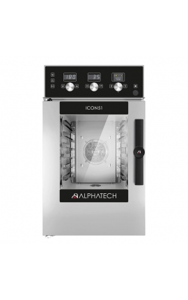 Electric Convection Oven with Touch Control Alphatech for 6 GN 1/1 Italy