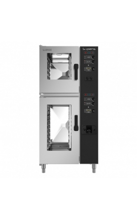 Gas Convection Oven with Boiler Lainox Italy 6 +10 GN 1/1 Sapiens - Code: SAG161B