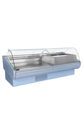 Serve Over Counter Display 2.60m with Cheese Counter Fridge - Code 0721-2156