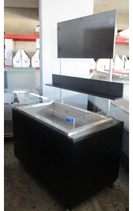 Open Top Display Chiller (for fruit - salad - sodas) 1.30m for 3 GN 1/1 with wooden coated - Code 1218-1362