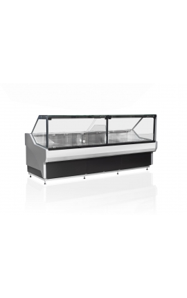 Horizontal Refrigerated Display with Straight Glasses Sakarya Flat 2500