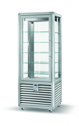4 Sides Glassed Display Chiller Silfer Italy Curve Series CPS 450V