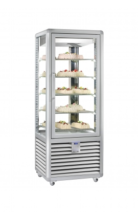 4 Sides Glassed Display Chiller/Freezer Silfer Italy Curve Series CGL 450 G 2T