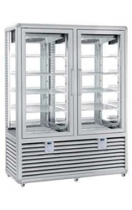 4 Sides Glassed Display Chiller/Freezer Silfer Italy Curve Series CGL 900 GG 2T