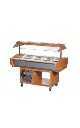 Salad Bar Wood Coated SBM6C