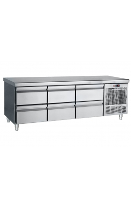 Inox Refrigerated low profile counter PS185