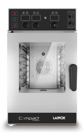 Electric Convection Oven Direct Steam Lainox Italy for 6 GN 2/3 Compact Sapiens