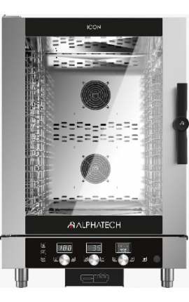 Electric Convection Oven with Touch Control Alphatech for 10 GN 1/1 Italy
