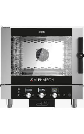 Gas Convection Oven with Mechanical Control Alphatech 5 GN 1/1 Italy