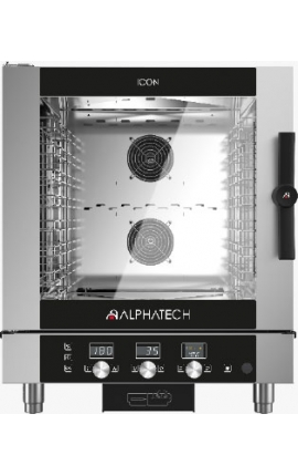 Gas Convection Oven with Touch Control Alphatech 7 GN 1/1 Italy