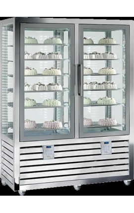 Upright Refrigerated Pastry Display 2Τ CGL 900 GG 2T
