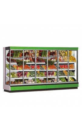 Melis G 4-89-2500-217 Fruit and Vegetable Cabinets 2.60m length with Opening Doors