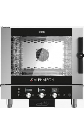 Electric Convection Oven with Touch Control Alphatech for 5 GN 1/1 Ιταλίας