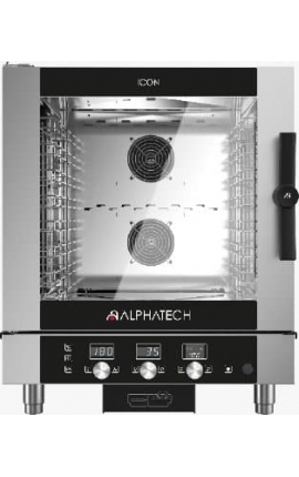 Electric Convection Oven with Mechanical Control Alphatech for 7 GN 1/1 Italy