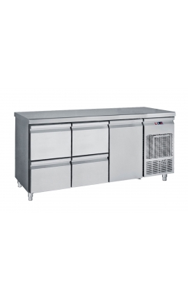 Fridge Counter Inox GN 510 Litre PG 185 2S1P