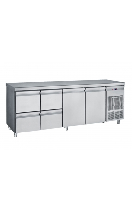 Fridge Counter Inox GN 385 Litre PG 239 2S2P